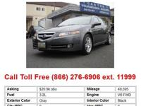 2008 Acura TL 3.2 4dr Sedan Sedan Gray FWD V6 3.2L Gas