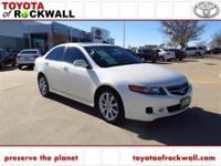 CARFAX One-Owner. Premium White Pearl 2008 Acura TSX