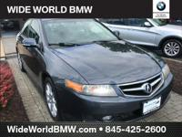CARFAX One-Owner. Gray 2008 Acura TSX FWD 5-Speed