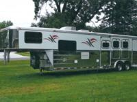 Beautiful Adam Horse Trailer with living 12' quarters!
