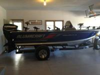 2008 Alumacraft Dominator 175CS + Prestige trailer.