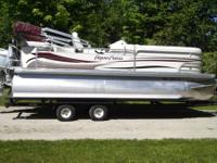2008 Aqua Patio 20ft Pontoon Boat (Original Owner). 115