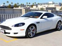 2008 Pre-Owned DB9 Coupe Stratus White and Sahara Tan -