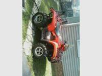 Really nice 2008 ATV, low miles, runs great! Call