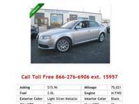 2008 Audi A4 2-0T I4 2.0L Gas FWD AUTOMATIC