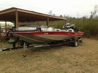 2008 Bass Tracker pro team 190tx with a 90hp motor,