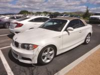 Alpine White 2008 BMW 1 Series 135i RWD 6-Speed