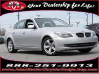 Options:  2008 Bmw 5 Series 528I|Silver|Mp3