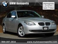 BMW of Annapolis presents this 2008 BMW 5 SERIES 4DR