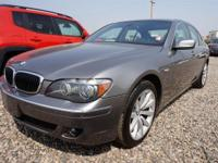 Gray 2008 BMW 7 Series 750i RWD 6-Speed Automatic