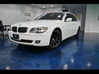 2008 BMW 750Li White on Black ,EQUIPPED with,Selection