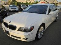 2008 750LI, WHITE ON TAN, SPORT PACKKAGE,HEATED SEATS