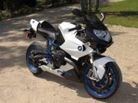 2008 White BMW HP2, clean title, immaculate condition,
