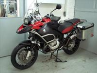 2008 BMW R1200GSA red with only 34k miles. This bike is