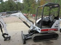 2008 Bobcat 325 Excavator, 2180 hours, Open, new paint,