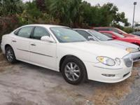 CARFAX One-Owner. White Opal 2008 Buick LaCrosse CXL