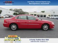 This 2008 Buick LaCrosse CXL in Scarlett Red is well