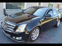 2008 CADILLAC CTS4 - ALL WHEEL DRIVE - BLACK RAVEN