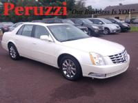 Clean CARFAX. White Diamond Clearcoat 2008 Cadillac DTS