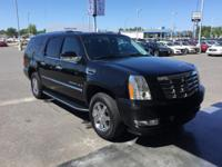 CARFAX One-Owner. Black 2008 Cadillac Escalade ESV RWD