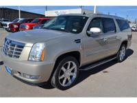 Escalade ESV trim. 3rd Row Seat, Heated Leather Seats,