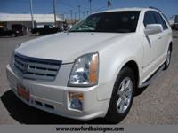 Clean CARFAX. White 2008 Cadillac SRX V6 5-Speed