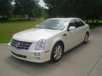 2008 CADILLAC STS REAR WHEEL DRIVE V.8 PEARL WHITE ON