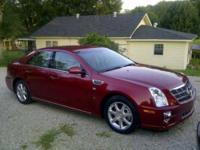2008 Cadillac STS Sedan 2008 Cadillac STS, Crimson Red