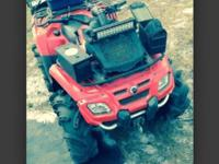 2008 can am outlander 800. 30 inch silverbacks 14 inch