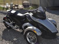 2008 Can-Am Spyder, Black & & Silver, low, low, low