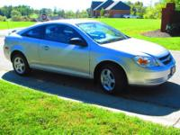 2008 Chevrolet Cobalt LS FWD coupe in Silver with Black