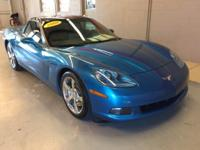 Corvette trim. LOW MILES - 34,500! Leather Seats, Targa