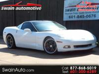 SUPER SPORTY GLASS TOP VETTE!! LEATHER SEATS, 6 SPEED,