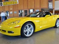 2008 YELLOW CORVETTE CERTIFIED GM USED VEHICLE!!!!!