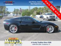 This 2008 Chevrolet Corvette Z06 in Black is well