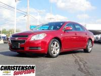 Clean CARFAX. Red Jewel 2008 Chevrolet Malibu LT 2LT