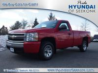 This red 2008 Chevrolet Silverado 1500 Work Truck is a