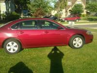 2008 Chevy Impala LT, black heated leather,  red