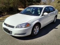 2008 CHEVY IMPALA LT. Flex fuel. White Outside, Gray