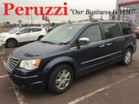 Clean CARFAX. Dark Blue 2008 Chrysler Town & Country