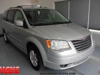Clean CARFAX. SILVER 2008 Chrysler Town & Country