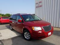 Red 2008 Chrysler Town & Country Touring FWD 6-Speed