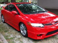2008 Honda Civic SI coupe with 22,000 miles. Red with