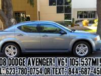 2008 Dodge Avenger SXT Sedan! V6. 2.7 L. Automatic.