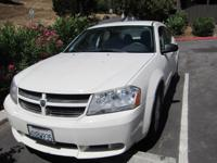 2008 DODGE AVENGER SE - GREAT COND., WHITE COLOR - 65 K