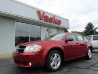Sporty and economical 2008 Dodge Avenger SXT in Inferno
