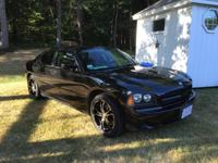 Black on black 2008 dodge charger base model only