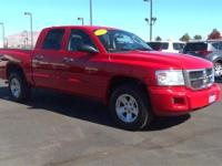 Flame Red 2008 Dodge Dakota SLT 4WD 4-Speed Automatic