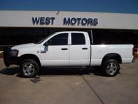Options Included: N/A2008 DODGE 2500 DIESEL HO 6SPD