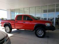 Flame Red Clearcoat Ram 2500 SLT 4WD, Towing Package,